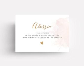 "Carte de remerciement ""Alessia"""
