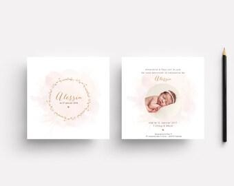 """Birth announcement """"Alessia"""""""