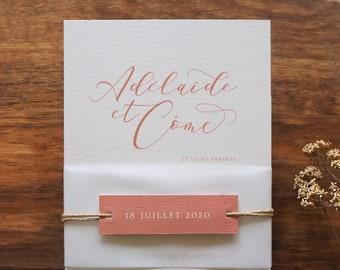 Etiquette - Faire-part mariage collection Calligraphie