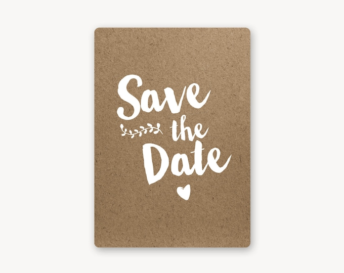 Featured listing image: Save the date - Collection Kraft