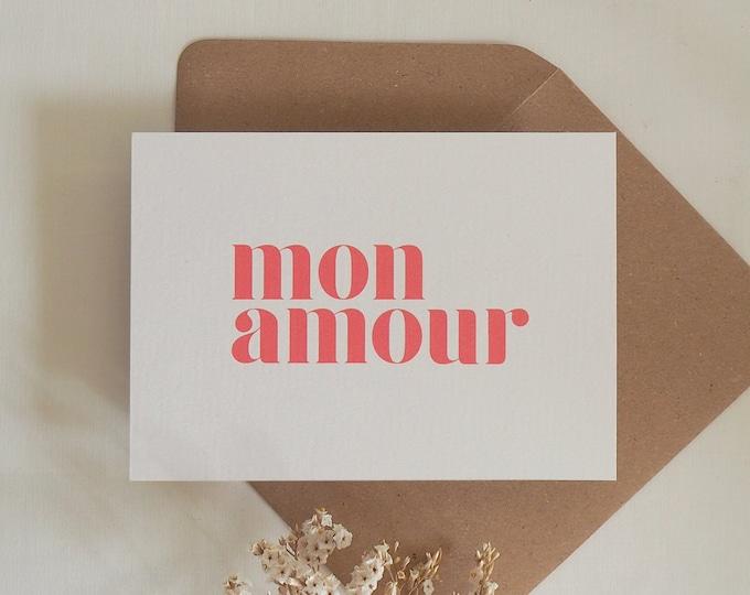 Featured listing image: Love card, handmade