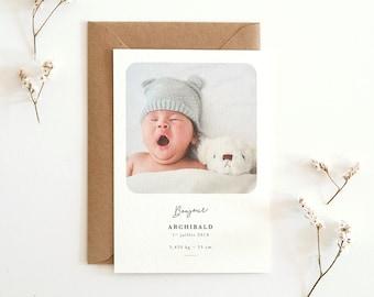 Faire-part de naissance Minimal