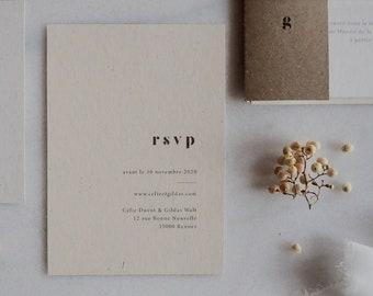 Carton réponse - Collection Argile mariage