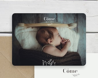 "Birth announcement ""Côme"""