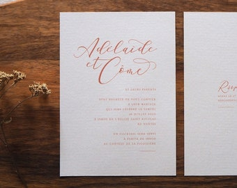 Faire-part mariage - Collection Calligraphie
