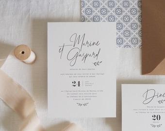Faire-part de mariage - Collection Encre