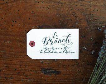 Carton brunch - Faire-part mariage collection Kinfolk