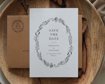 Save the date - Collection Herbier mariage
