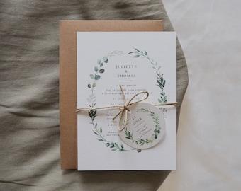 Faire-part mariage - Collection Eucalyptus