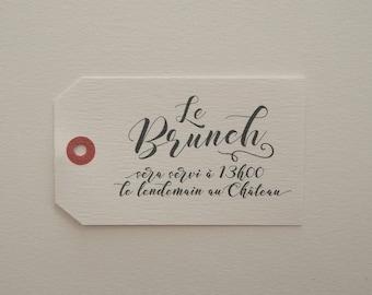 Carton brunch - Faire-part mariage collection Kinfolk