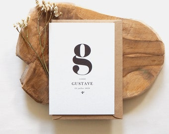 Birth announcement Gustave