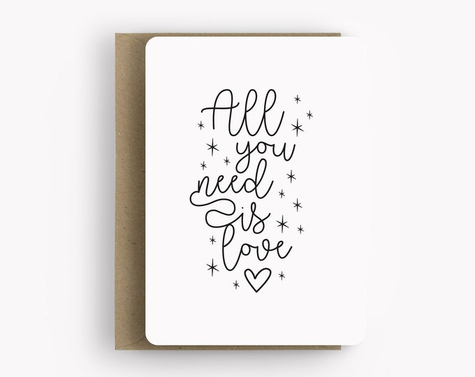 Featured listing image: Love card, handmade