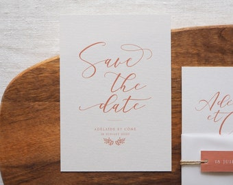 Save the date - Collection Calligraphie mariage