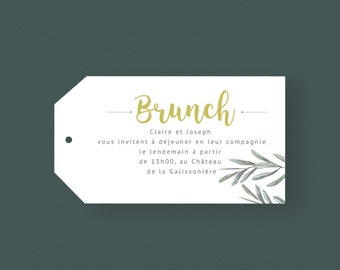 Carton brunch, collection L'Olivier