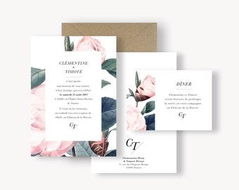 Carton d'invitation dîner - Collection Botanique