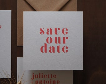 Save the date - Collection Rouge Amour mariage
