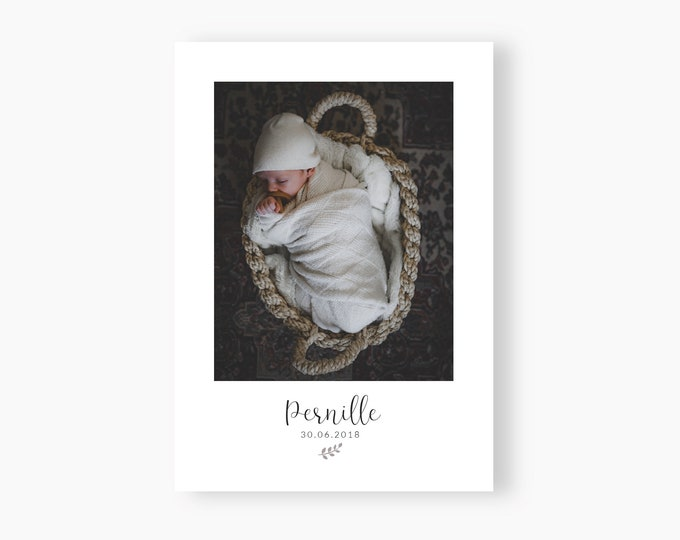 Featured listing image: Birth announcement Pernille