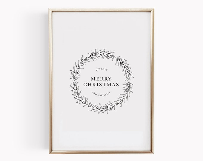 Featured listing image: Affiche Merry Christmas