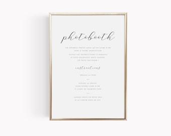 Affiche mariage Photobooth personnalisable, modèle organique