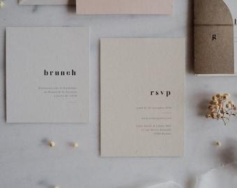 Carton brunch - Collection Argile mariage