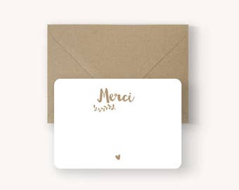 Mini thank you card Kraft collection