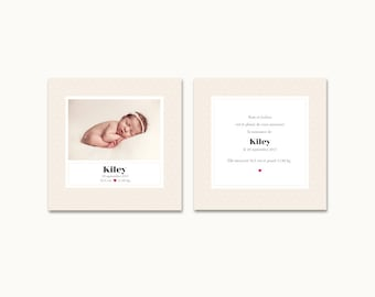 "Birth announcement ""Kiley"""