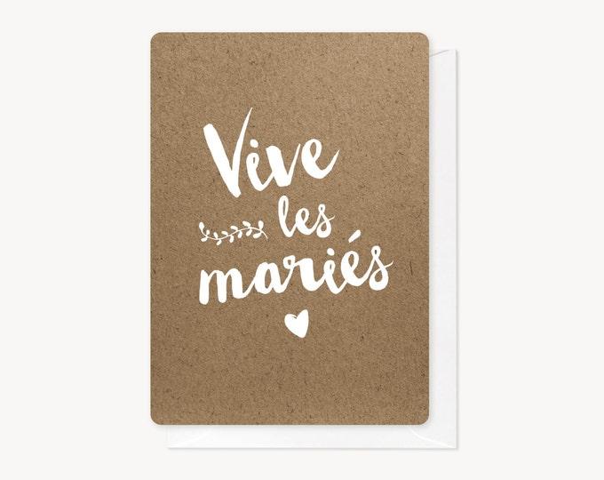 Featured listing image: Vive les mariés, congratulations card