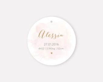 Étiquette Alessia diamètre 5cm