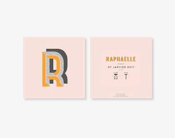 "Birth announcement ""Raphaëlle"""