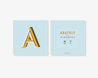 "Birth announcement ""Anatole"""