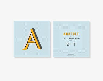"""Birth announcement """"Anatole"""""""