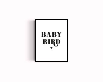 Baby bird poster - kids room