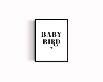 Baby bird poster - kids room