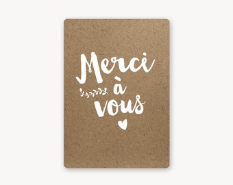 Thank you card, handmade