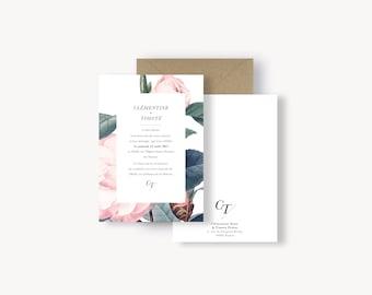 Faire-part de mariage - Collection Botanique
