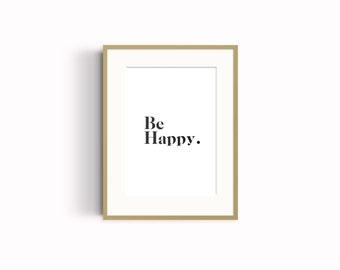 Be Happy Wall Art