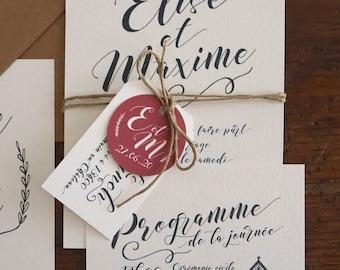 Etiquette - Faire-part mariage collection Kinfolk