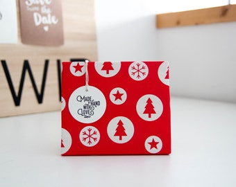 """Gift tags """"Made by hand with love"""", set of 4"""