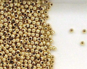 Lot 1,000× Brass Spacer Bead Round Rose Gold 3mm Jewelry Finding Loose Craft DIY