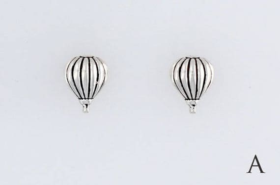 Turquoise Hot Air Balloon Post or Stud Earrings Hypoallergenic Posts
