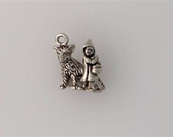 Sterling Silver 3-D Little Red Riding Hood Charm