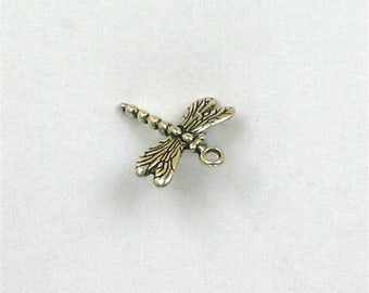 Sterling Silver 10mm 3-D Dragonfly Charm