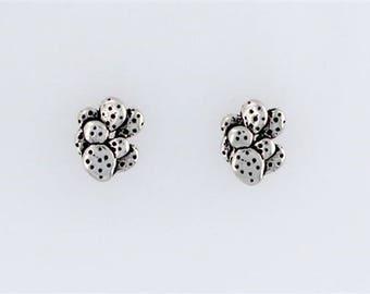 Sterling Silver Prickly Pear Cactus Post or Stud Earrings