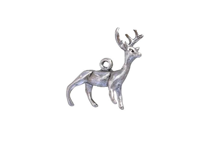 Reindeer Charm for Christmas or Wildlife Themed Jewelry
