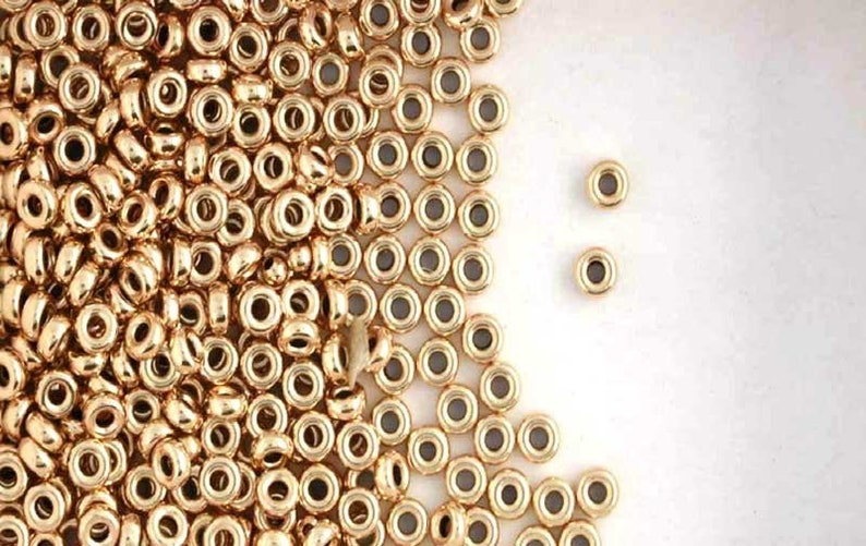 14K Gold Filled 6mm Seamless Round Spacer Beads Choice of Lot Size /& Price