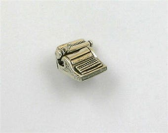 Sterling Silver 3-D Movable Typewriter Charm