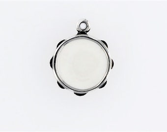 Sterling Silver Enameled Tambourine Charm