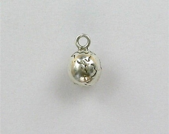 Sterling Silver 3-D Planet Earth Charm