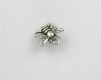 Sterling Silver 3-D Honey Bee Charm