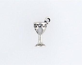 Sterling Silver 3-D Goblet Charm